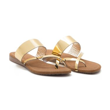 Aleta Synthetic Leather Womens Flats Alwf1216-Gold
