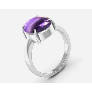 Kiara Jewellery Certified Katela 3.0 cts & 3.25 Ratti Amethyst Ring_Amtrw