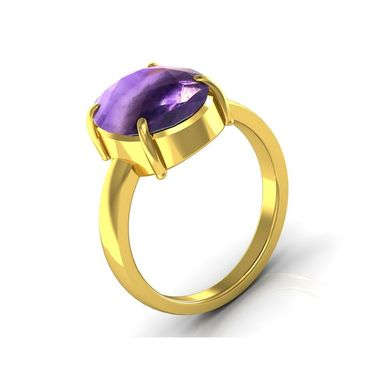 Kiara Jewellery Certified Katela 3.0 cts & 3.25 Ratti Amethyst Ring_Amtry