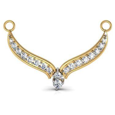Avsar Real Gold & Swarovski Stone Assam Mangalsutra_Avm005yb