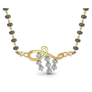 Avsar Real Gold & Swarovski Stone Lucknow Mangalsutra_Avm073yb