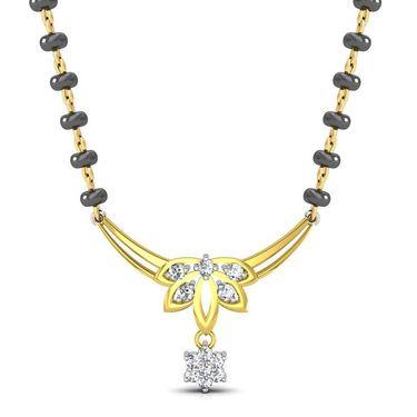 Avsar Real Gold & Swarovski Stone Kochi Mangalsutra_Avm080yb