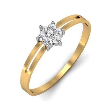 Avsar Real Gold & Swarovski Stone Rohini Ring_A008yb