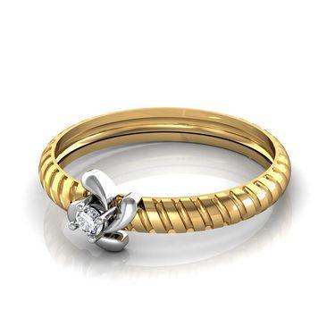 Avsar Real Gold & Swarovski Stone Kanika Ring_A043yb