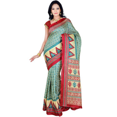 Aarti Set of 7 Tussar Art Silk Sarees (7B3) - AKSO