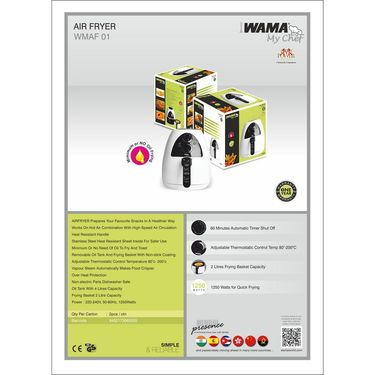 WAMA Air Fryer 4 Ltrs -WMAF 01