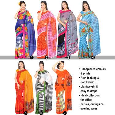 Aneesha Set of 7 Georgette Sarees by Pakhi (7G23)