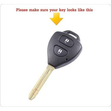 AutoStark Silicone Key Cover For Toyota 2 Fortuner Button Remote Key