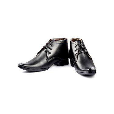 Kohinoor Footwears Faux Leather Formal Shoes BB01_Black
