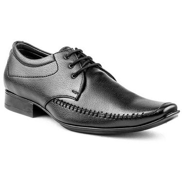 Kohinoor Footwears Faux Leather Formal Shoes BB04_Black