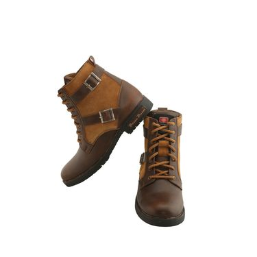 PU  Brown  Boot -ntb06