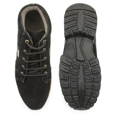 Bacca Bucci Suede Leather Black Casual Shoes -Bbmb3036A