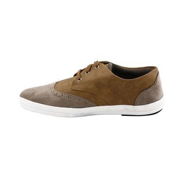 Bacca Bucci PU & Suede  Casual Shoes  Bbmb3085E -beige