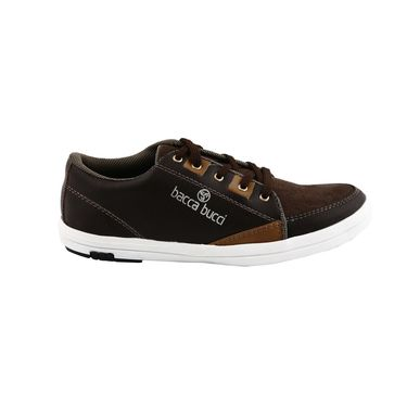 Bacca Bucci PU & suede  Casual Shoes  Bbmb3090F -coffee