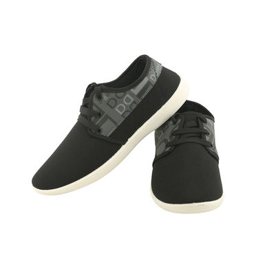 Bacca Bucci Canvas  Black Casual Shoes -ntb10