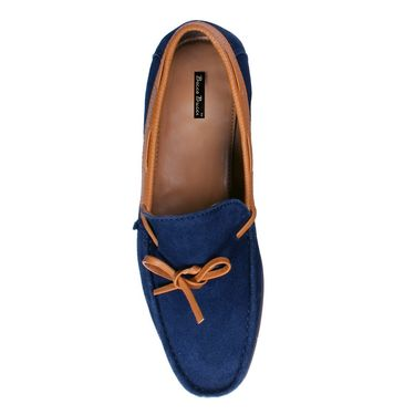 Bacca Bucci Suede Leather Blue Loafers -Bbmc4062B