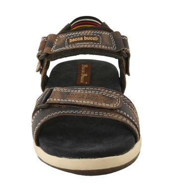 Bacca Bucci Genuine Leather Brown Sandals -Bbme6025C