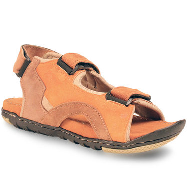 Bacca Bucci Suede Leather Tan Sandals -Bbme6036D