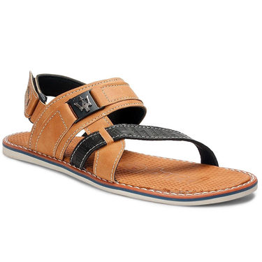 Bacca Bucci Artificial Leather Tan Sandals -Bbme6052D