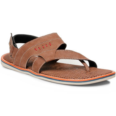 Bacca Bucci Artificial Leather  Brown Sandals -Bbme6055C
