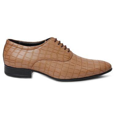 Bacca Bucci PU Brown Formal Shoes -Bbmf7328C