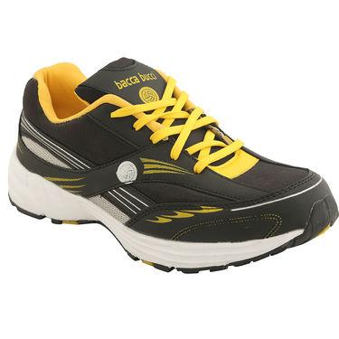Bacca Bucci PU Black Sports Shoes -ntb2