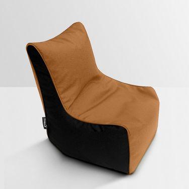 Storyathome Tan- Black Bean Bag Chair Cover- XXL