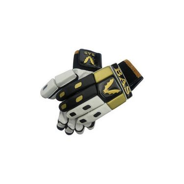 BAS Vampire  (Size-L) Gold Batting Glove-White And Black - BG60