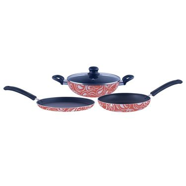 Brilliant Symphony Orange 4pc Nonstick Induction Based Cookware Set