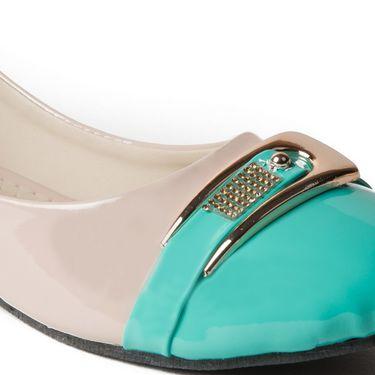 Branded Patent Ballerinas BLS-003-GR