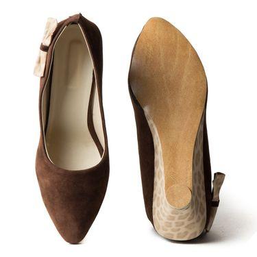 Branded Suede Leather Ballerinas BLS-006-BR