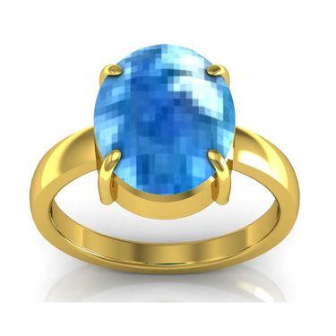 Kiara Jewellery Certified Blue Topaz 3.0 cts & 3.25 Ratti Blue Topaz Ring_Bltzry