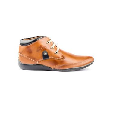 Kohinoor Footwears Nubuck Leather Casual Shoes BT0101_Brown