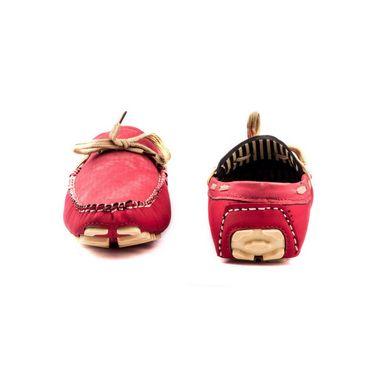 Kohinoor Footwears Canvas Loffers BT0104_Red