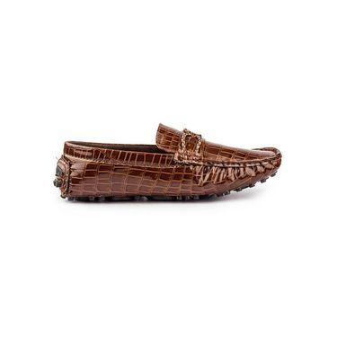 Kohinoor Footwears Suede Leather Loffers BT0105_Brown