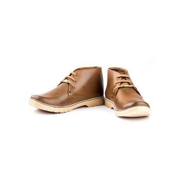 Kohinoor Footwears Synthetic Leather Casual Shoes BT090_Brown