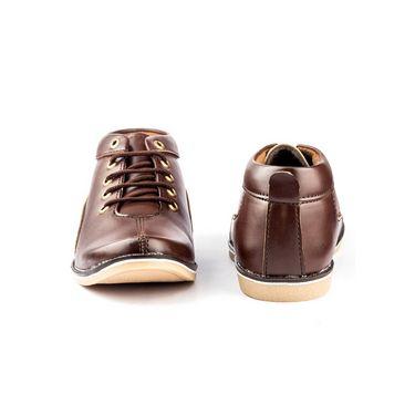 Kohinoor Footwears Faux Leather Casual Shoes BT092_Brown