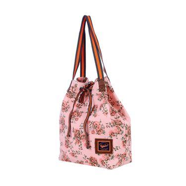 Be For Bag Canvas Cloth HandBag Pink -Bernaed