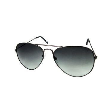 Unisex Aviator Sunglasses_Bes007 - Light Black
