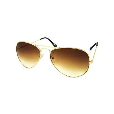 Unisex Aviator Sunglasses_Bes019 - Brown