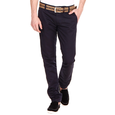Blimey Pack of 2 Chinos - Navy Blue & Dark Brown