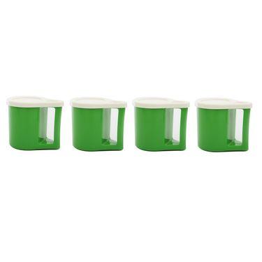 Kitchen Duniya Set Of 4 Bliss Coffee Mugs-Dark Green