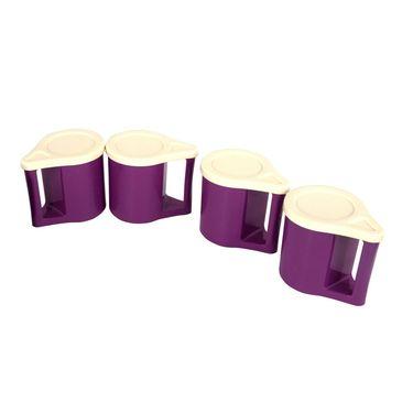 Kitchen Duniya Set Of 4 Bliss Coffee Mugs-Purple Passion
