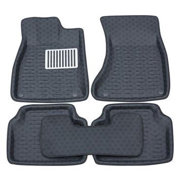 Branded 3D Car Bucket Tray Footmat For Etios - Black