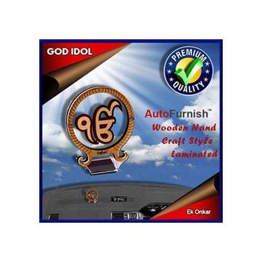 Branded God Idol Ek Onkar Dashboard Wooden Hand Craft Style
