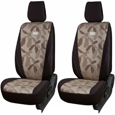 Branded Printed Car Seat Cover for Honda Brio - Brown