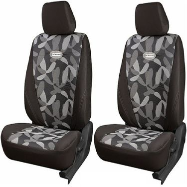 Branded Printed Car Seat Cover for Toyota Etios Liva - Grey
