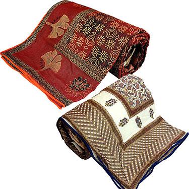 Set of 2 Little India Designer Printed Double Bed Comforter- DL3COMB162