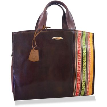 Arpera Brown Ladies Handbag Ssa18