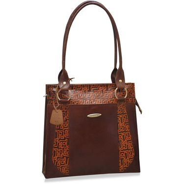 Arpera Brown Ladies Handbag Ssa23